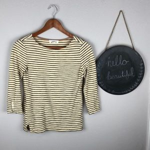 Forever 21 Striped Shirt Size S 3/4 Length Sleeves